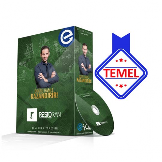 RESTO TEMEL Paket Restoran Yazılımı