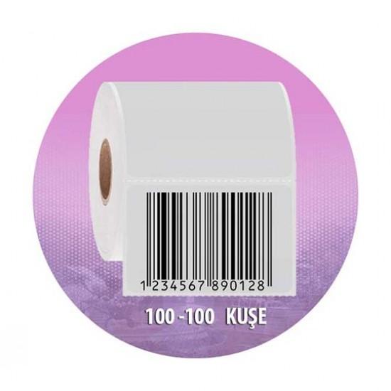 Es 100*100 Kuşe 500 lü Barkod Etiketi-1 Rulo