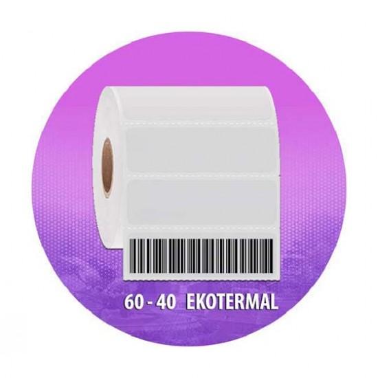 Es 60*40 Ekotermal 1000 li Barkod Etiketi-1 Rulo