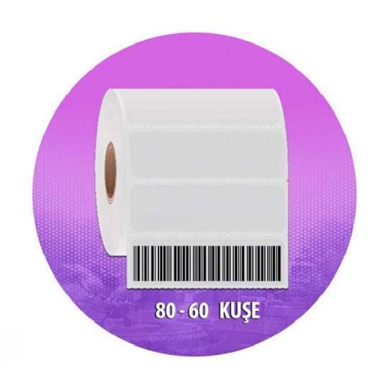 Es 80*60 Kuşe 800 lü Barkod Etiketi-1 Rulo